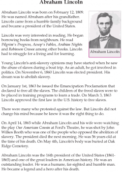 Historical Heroes: Abraham Lincoln