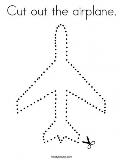 Cutting Practice: Airplane