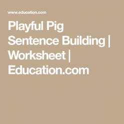 Playful Pig Sentence Building