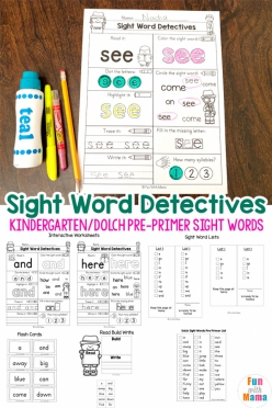 Pre-Kindergarten Sight Words: See To Up