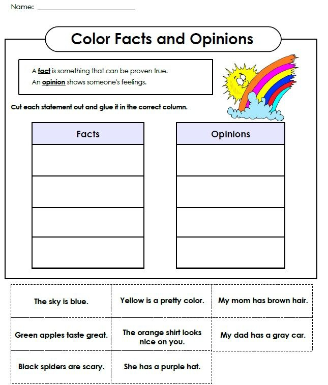 Printable Fact And Opinion Worksheet