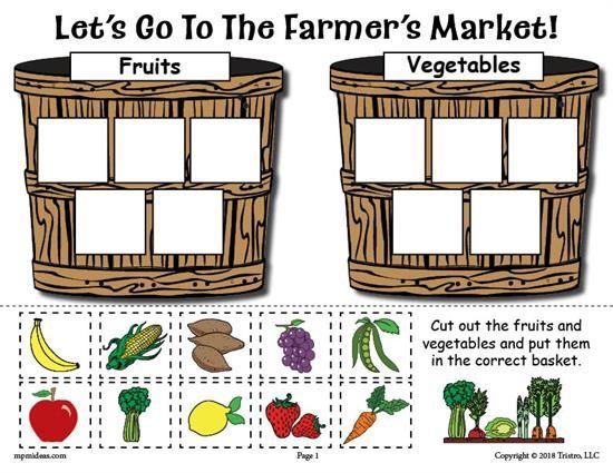Printable Fruits And Vegetables Sorting Worksheet