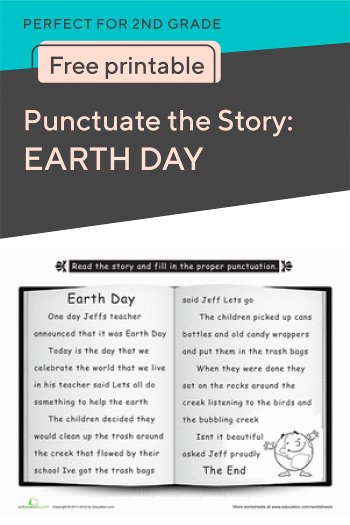 Punctuate The Story Earth Day