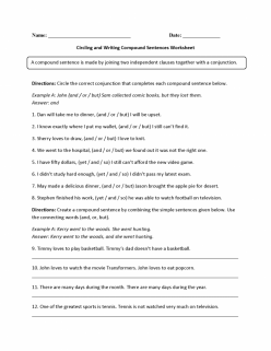 Creating Compound Sentences