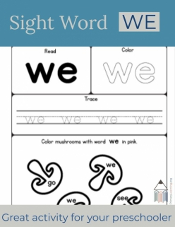 Spruce Up The Sight Word: We