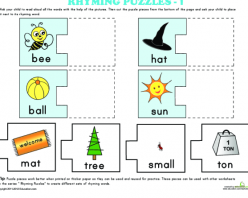 Rhyming Words Puzzle #9