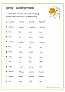 Spring Spelling Check-In