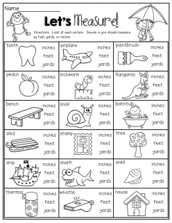 Units Of Measurement: Inches, Feet And Yards