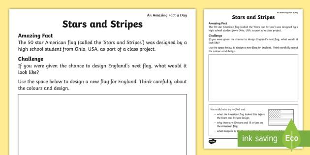 Stars And Stripes Flag Design Worksheet  Worksheet