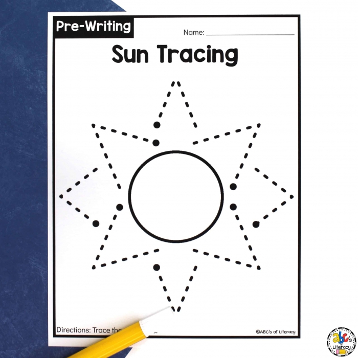 Sun Tracing Worksheets Pre