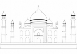 Color The World! The Taj Mahal