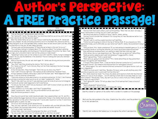 Teaching About Authors Perspective