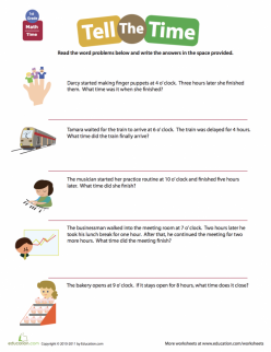 Telling Time: Word Problems At The Library
