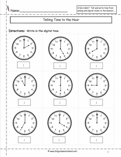 Practice Test: Telling Time