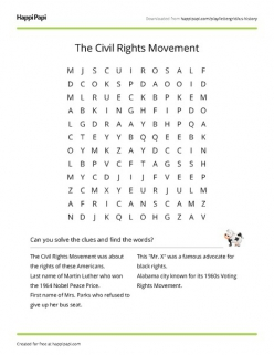 Civil Rights Word Find