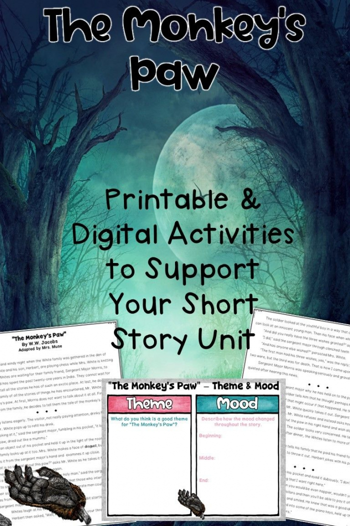 The Monkeys Paw Printable And Digital Unit For Distance Learning