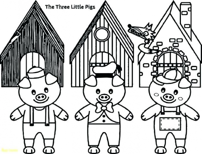 The Three Little Pigs Coloring Pages Three Little Pigs Story