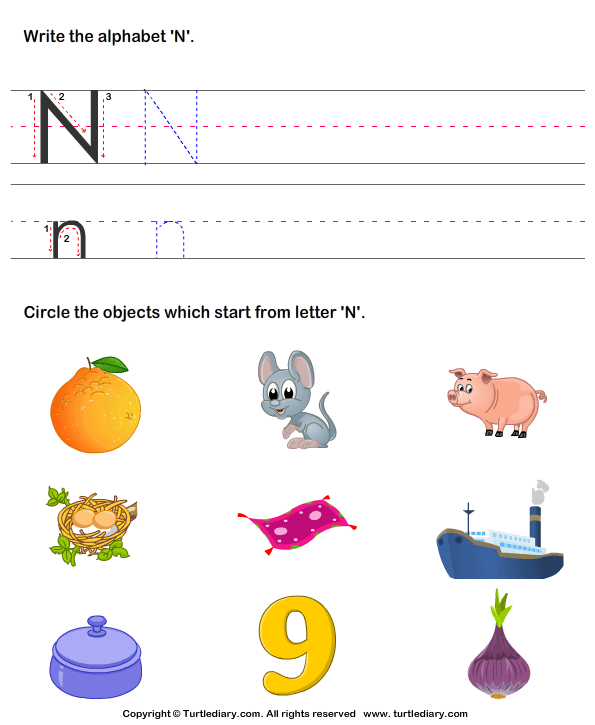 Things That Start With N Clipart