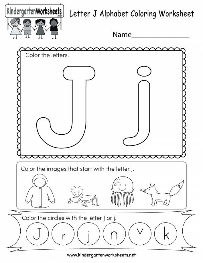 This Is A Fun Letter J Coloring Worksheet Kids Can Color The