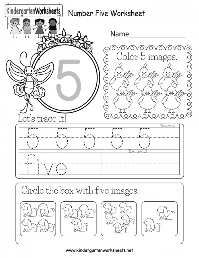 Preschool Math: All About The Number 5 Worksheets 99Worksheets
