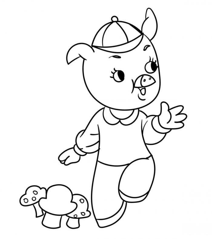 Top  Free Printable Three Little Pigs Coloring Pages Online