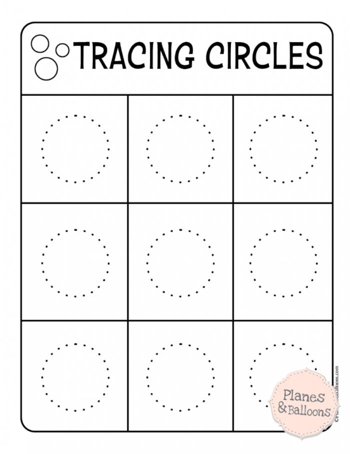Tracing Circles Worksheets To Build A Solid Writing Skills