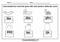 Unscramble The Sight Words