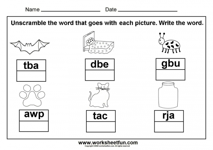 Unscramble Cvc Words Great To Laminate And Put In A Word Work