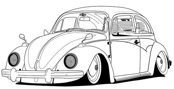 Volkswagon Beetle Coloring Page Auto Ausmalbilder Ultra Coloring