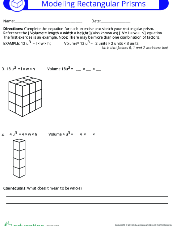 Volume And Rectangular Prisms