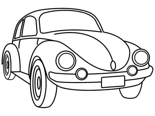 Vw Beetle Coloring Pages Free Online Printable Coloring Pages