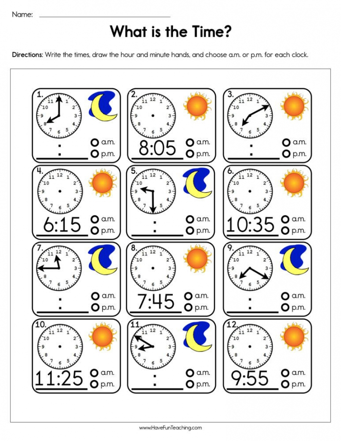 What Is The Time Worksheet  Have Fun Teaching