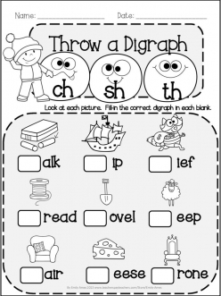 Phonics Practice Test: Blends And Digraphs