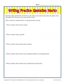 Quotation Mark Practice