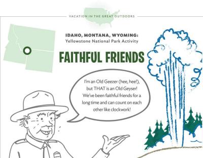Yellowstone National Park Activity Sheet