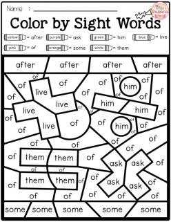 First Grade Sight Words: When To Would