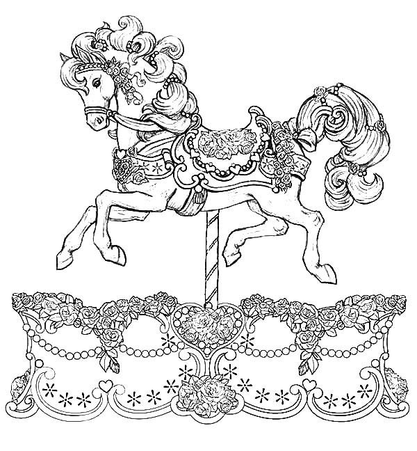 Beautiful Carousel Horse Coloring Best Place To Color Print Value