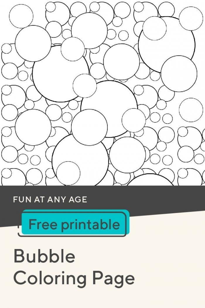 Bubble Coloring Page