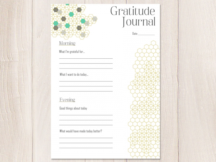Build Positivity With These  Printable Gratitude Journal Pages