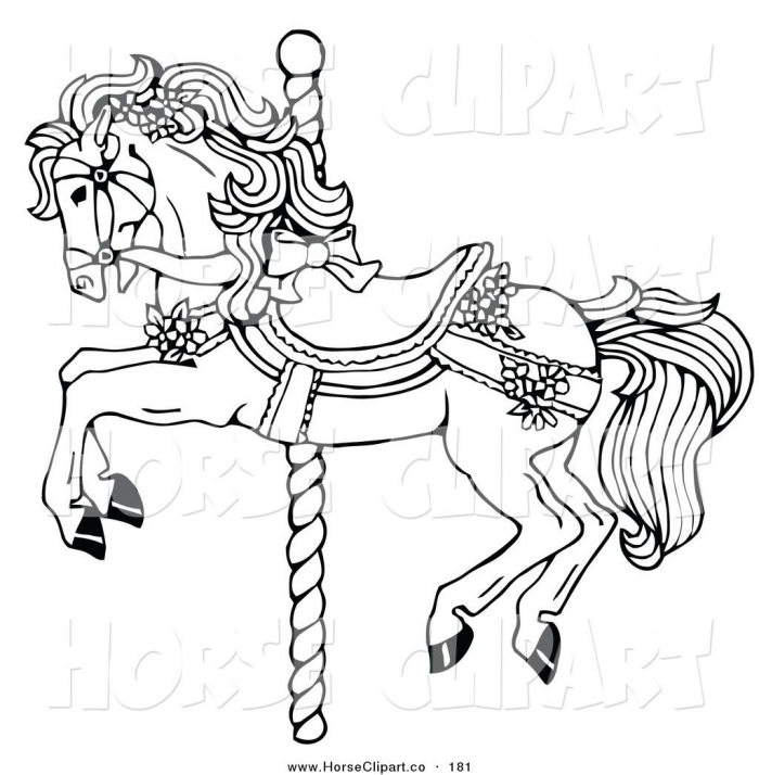 Carousel Horse Clip Art Of Coloring To Print Middle School English
