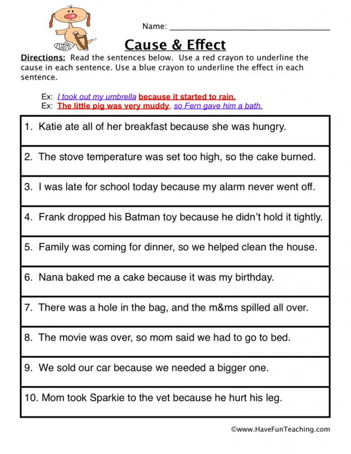 Cause And Effect Find It Worksheet  Have Fun Teaching