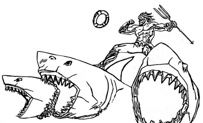 Coloring Fortnite Chapter Season Aquaman Sharks Penny And Nickel