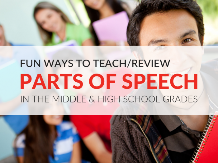 Creative Ways To Teach Parts Of Speech In Middle School And High