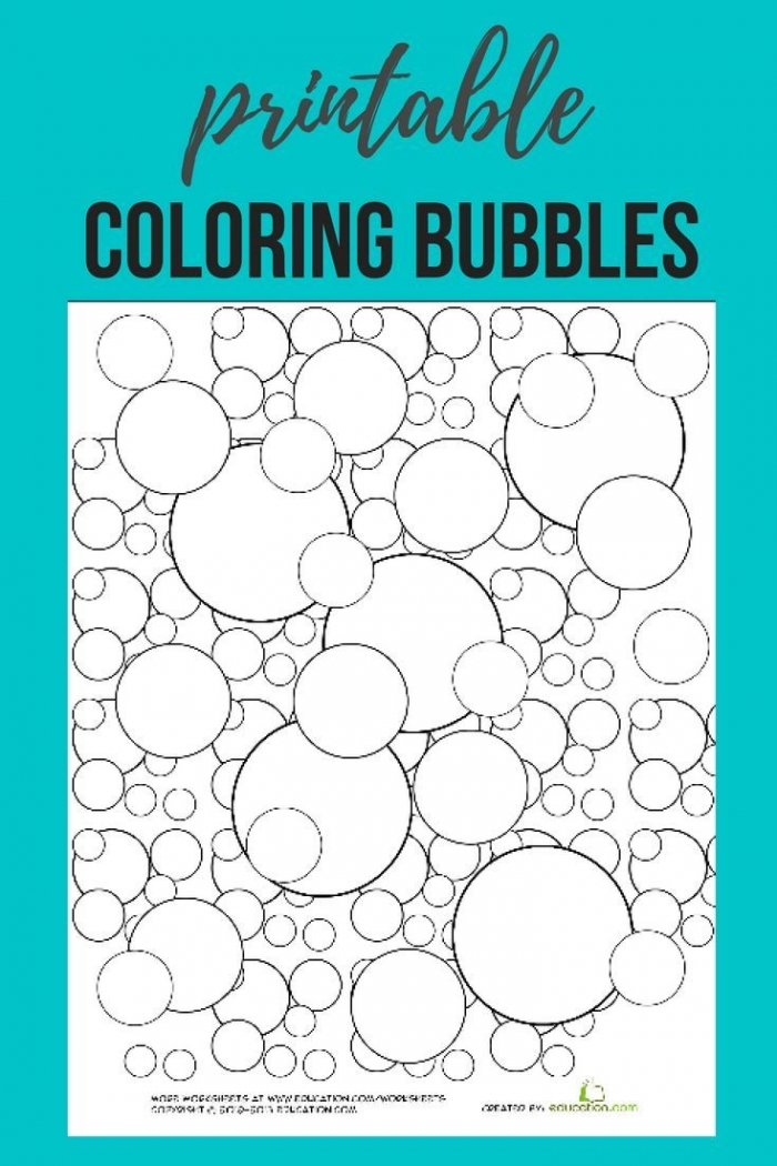 Download This Free Bubble Coloring Page Printable Printables