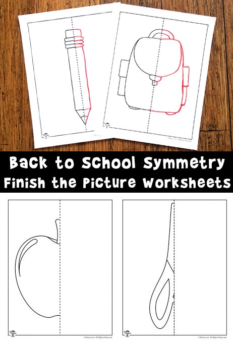 Finish The Picture Symmetry Drawing Worksheets For Back To School