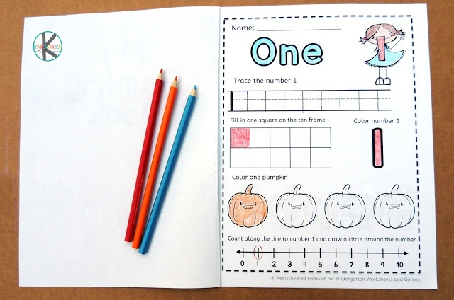 Free Fall Worksheets Counting