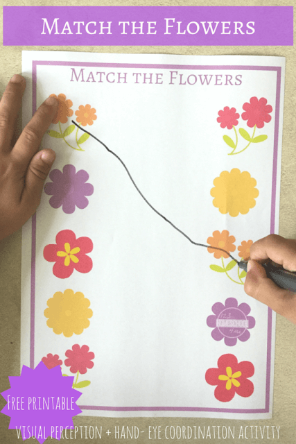 Free Match The Flower Preschool Worksheet