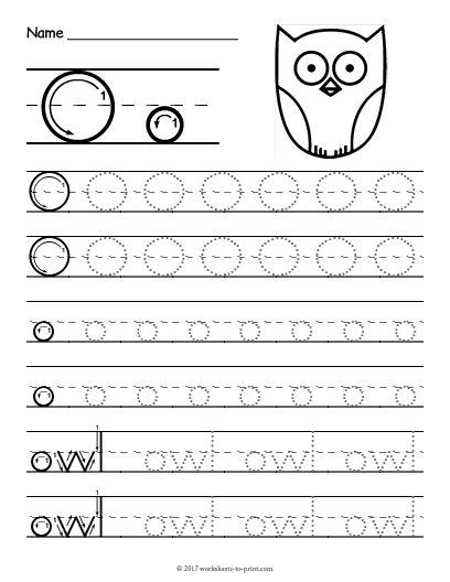 Free Printable Tracing Letter O Worksheet