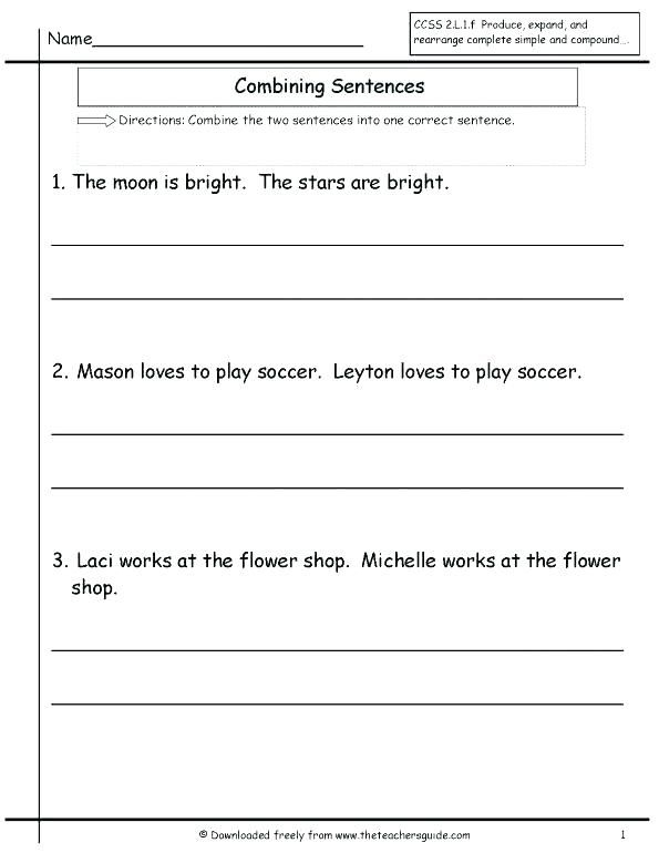 Free Worksheets Library And Print On Copying Sentences Math Is Fun