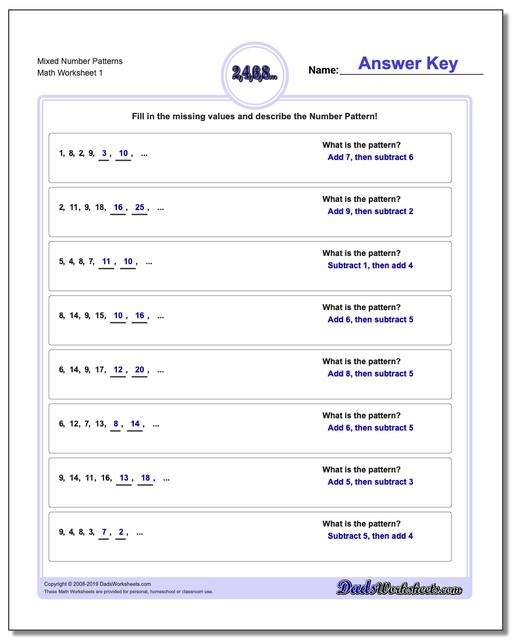 Geometry Shadow Problems Patterns And Rules Worksheets Sentence